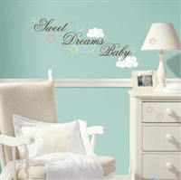 Aftagelig wallstickers - Sweet Dreams Baby